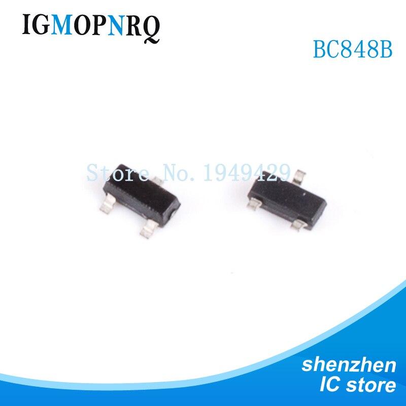 100 Uds BC848B SOT23 BC848 SOT SMD SOT-23 1K transistor nuevo original IC
