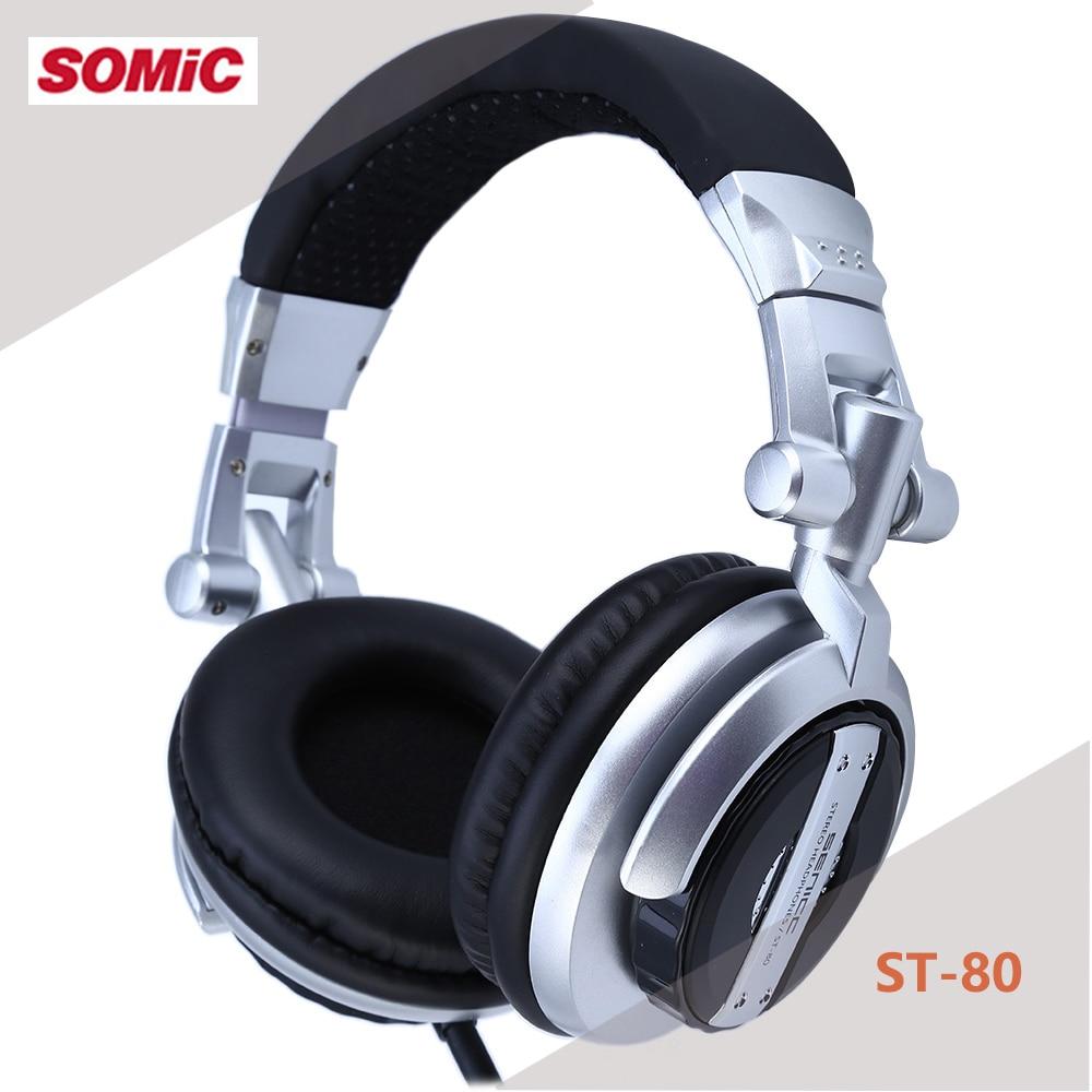 Somic ST-80 Monitor profesional auriculares de música subwoofer de alta fidelidad auriculares mejorados Supergraves auriculares de DJ aislantes de ruido