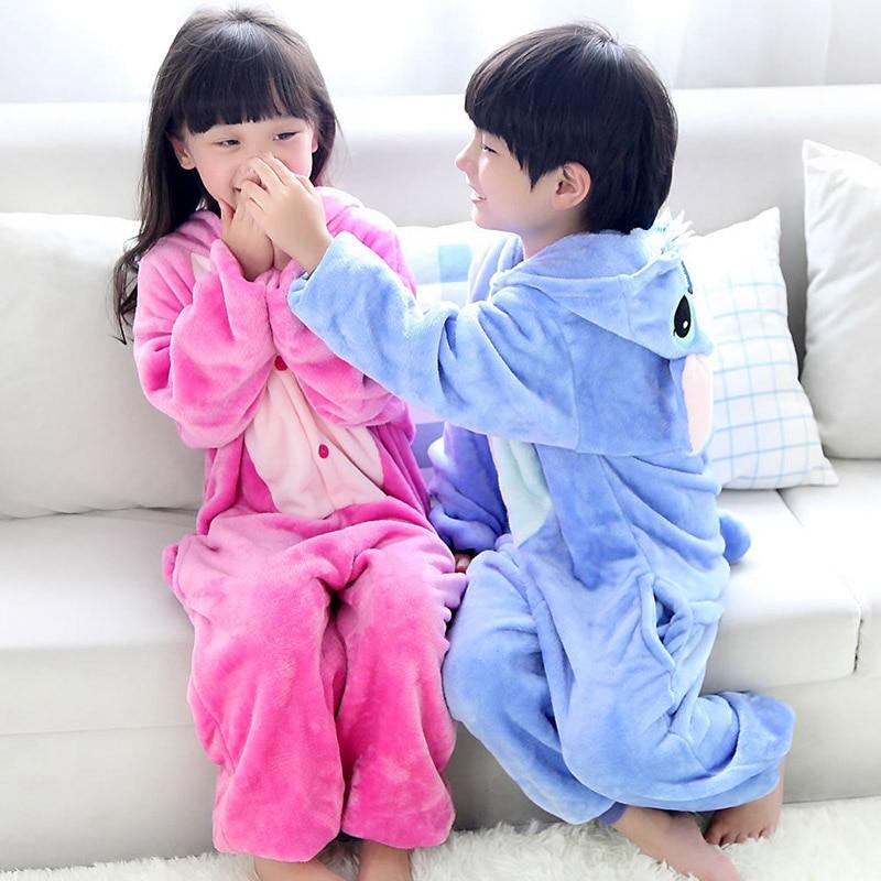 Disfraz de unicornio Kigurumi para niños, pijama de una pieza, ropa de dormir de punto, manta para animales, pijamas para niños