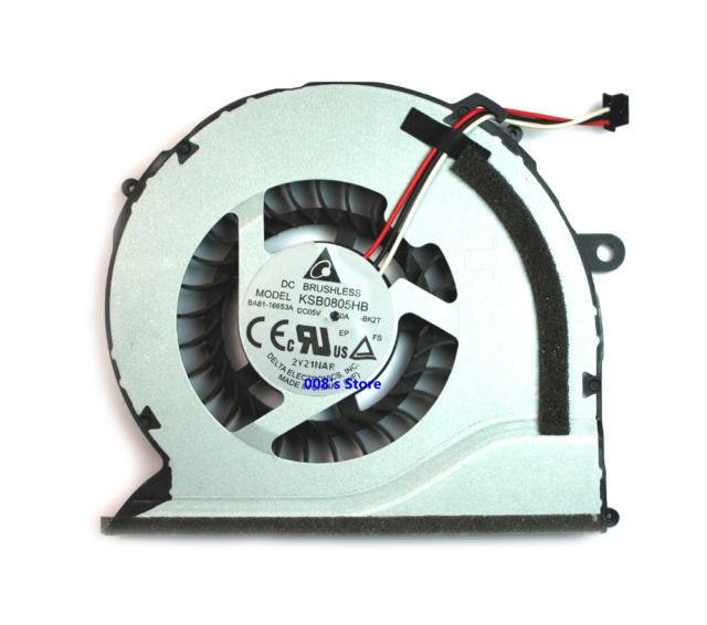 New Laptop CPU Cooler Radiator Fan For Samsung NP550P5C NP550P7C NP-550P5C NP-550P7C KSB0805HB BK2T BA62-00675A BA81-16653A