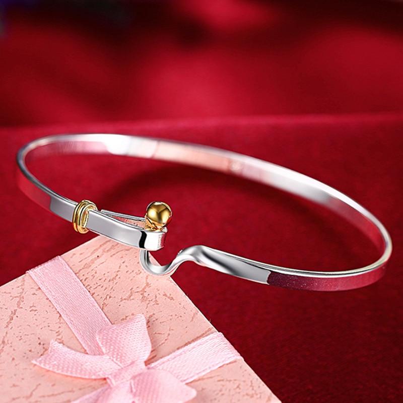 DOTEFFIL 925 en argent Sterling or perles Bracelet pour femme mariage fiançailles mode breloque fête bijoux