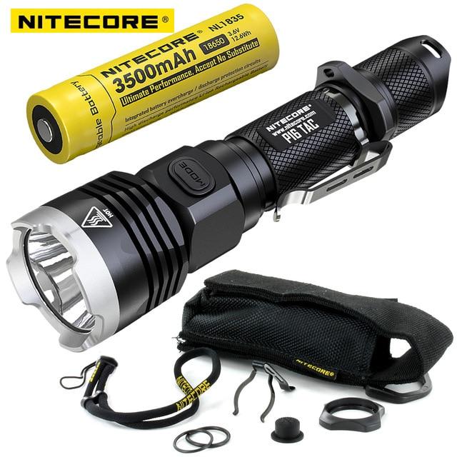 Nitecore P16 TAC 1000 lúmenes CREE XM-L2 U3 LED linterna táctica 18650 batería recargable caza búsqueda antorchas