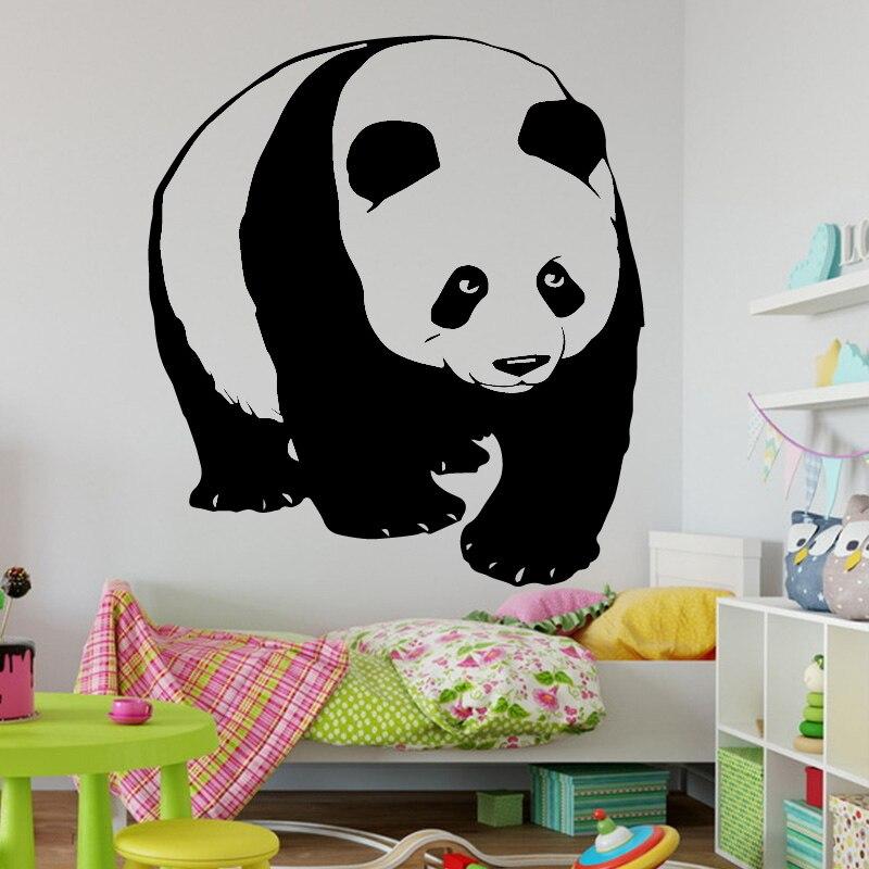 AiyoAiyo, pegatinas de animales para pared, patrón de Panda, vinilo mural artístico extraíble, pegatinas de pared, Animal encantador, decoración del hogar para dormitorio infantil