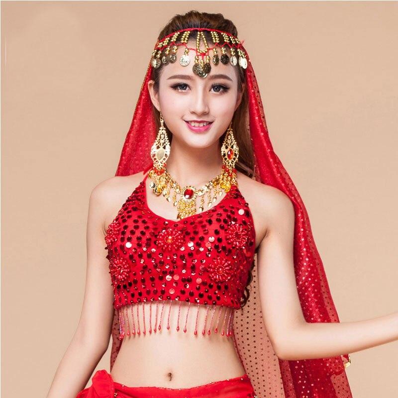 Nuevo sujetador de danza del vientre para mujer, sujetador de danza India, sujetador de danza del vientre de estilo egipcio, Ropa de baile de Ballet