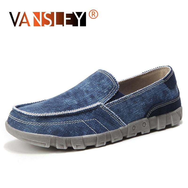 Summer Denim Casual Shoes Canvas Low Male Shoes Breathable Flats Men Casual Shoes Slip on Men Fashion Jeans Canvas Lazy Shoes