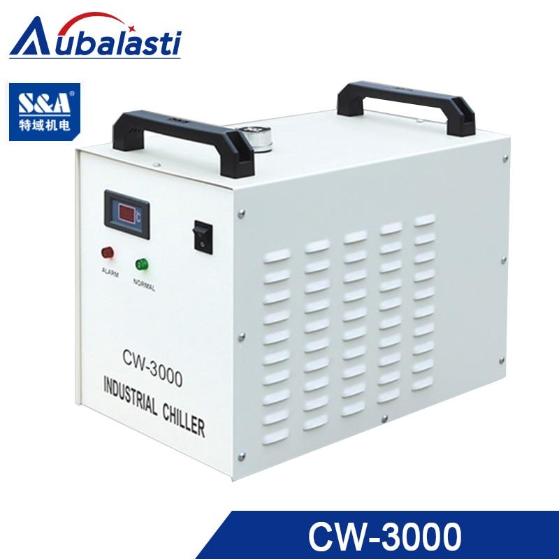 Enfriador de agua Industrial Aubalasti S & A CW3000 para husillos CNC de 1.5kw uso para máquina de corte de grabador CNC
