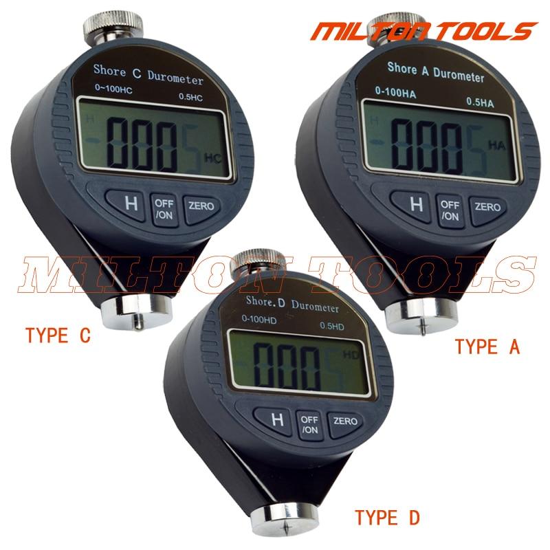 Factory-outlet Digitale Shore Durometer Digitale Hardheid Tester Meter Shore A Shore C Shore D kan kiezen