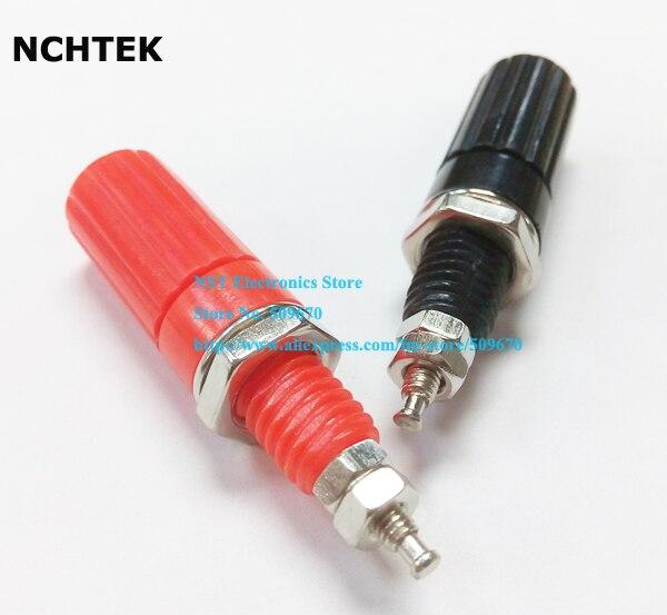 NCHTEK кабельная Колонка усилитель 4 мм банановый разъем красный + черный/Бесплатная
