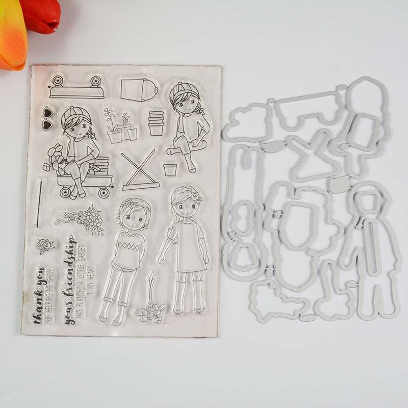 Sello transparente de amistad/troquel de coordinación para álbum de recortes DIY/fabricación de tarjetas/divertidos suministros de decoración para niños