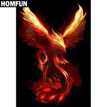 "HOMFUN Full Square/Round Drill 5D DIY Diamond Painting ""Phoenix Bird"" Embroidery Cross Stitch 5D Home Decor Gift A06146"