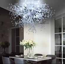Moderne pissenlit LED encastré plafonnier clair cristal lampe pour cuisine chambre salon Foyer élégant luminaire