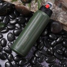 FEIJIAN Sport Wasser Flasche Doppel Wand Edelstahl Thermos Shaker Flasche Tragbare Vakuum Glaskolben Tumbler Tritan Deckel BPA FREI