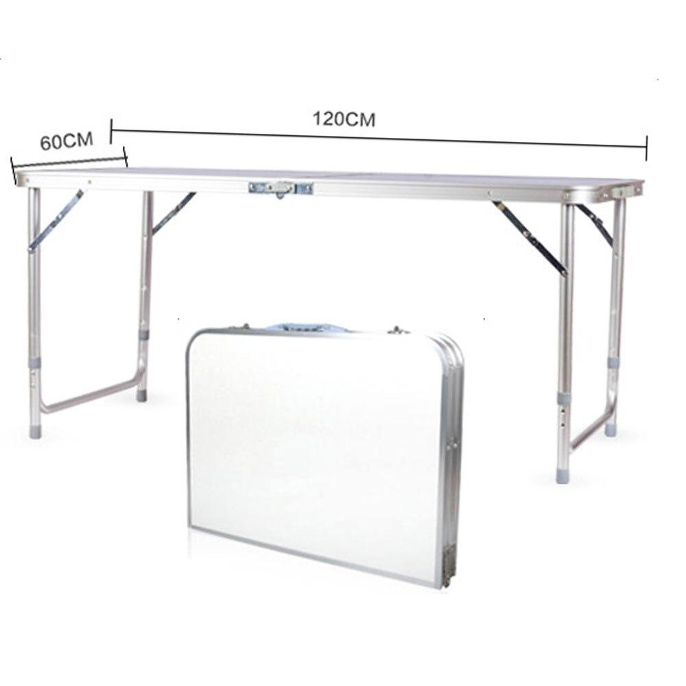 Mesa plegable multiusos portátil de 120x60x70 4 pies, mesa de utilidad para interiores, exteriores, Camping, picnic, barbacoas, Stock de EE. UU.