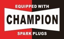 Champion bougies dallumage drapeau   90*150cm