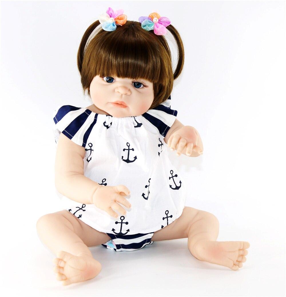 Muñeca realista reborn de 23 pulgadas de silicona completa 57cm para bañar a niños pequeños muñeco hora de dormir colección de juguetes muñeca de simulación gran oferta
