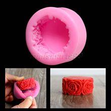 Nicole moules ronds à fleurs de Rose en Silicone   Pour le savon, bricolage artisanat moule à bougie, outils à gâteaux en Silicone