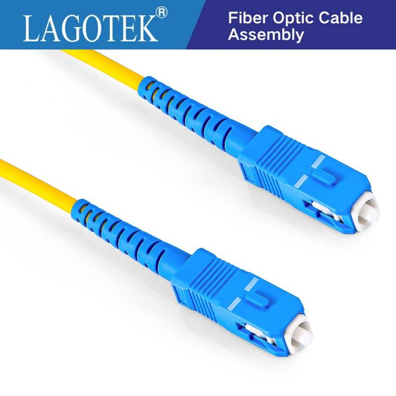 10 Pcs SC UPC zu SC UPC Simplex 2,0mm 3,0mm PVC Single mode Faser Patch Kabel jumper faser patchkabel fiber optica FTTH 9/125
