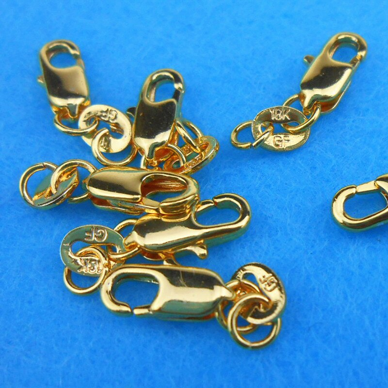 10PCS Real Gold Filled Lobster Clasps For Necklace Bracelet With Pj008
