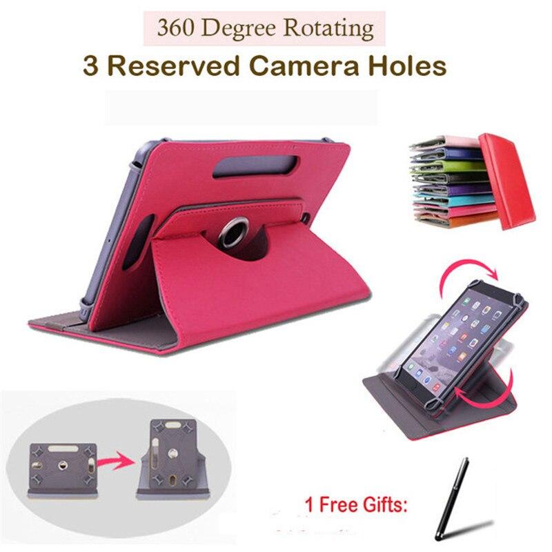 "Para Acer Iconia Tab W1-810/A1-811/A1-840FHD 8 ""pulgadas giratorio 360 grados Universal Tablet PU Funda de cuero gratis pluma"