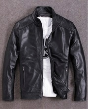 Freies verschiffen. plus größe Marke leder mantel, mann echtes leder mantel, winter warme schaffell jacke, casual stil Falsche, günstige