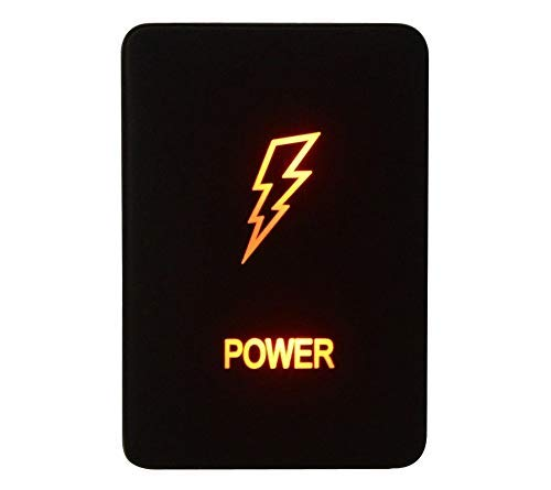 12V 3A Amber Power Push Button  for Toyota-For Landcruiser 200 Series 2008-2013,RAV4 2006-2011, Hilux 2015-Onwards POWER symbol