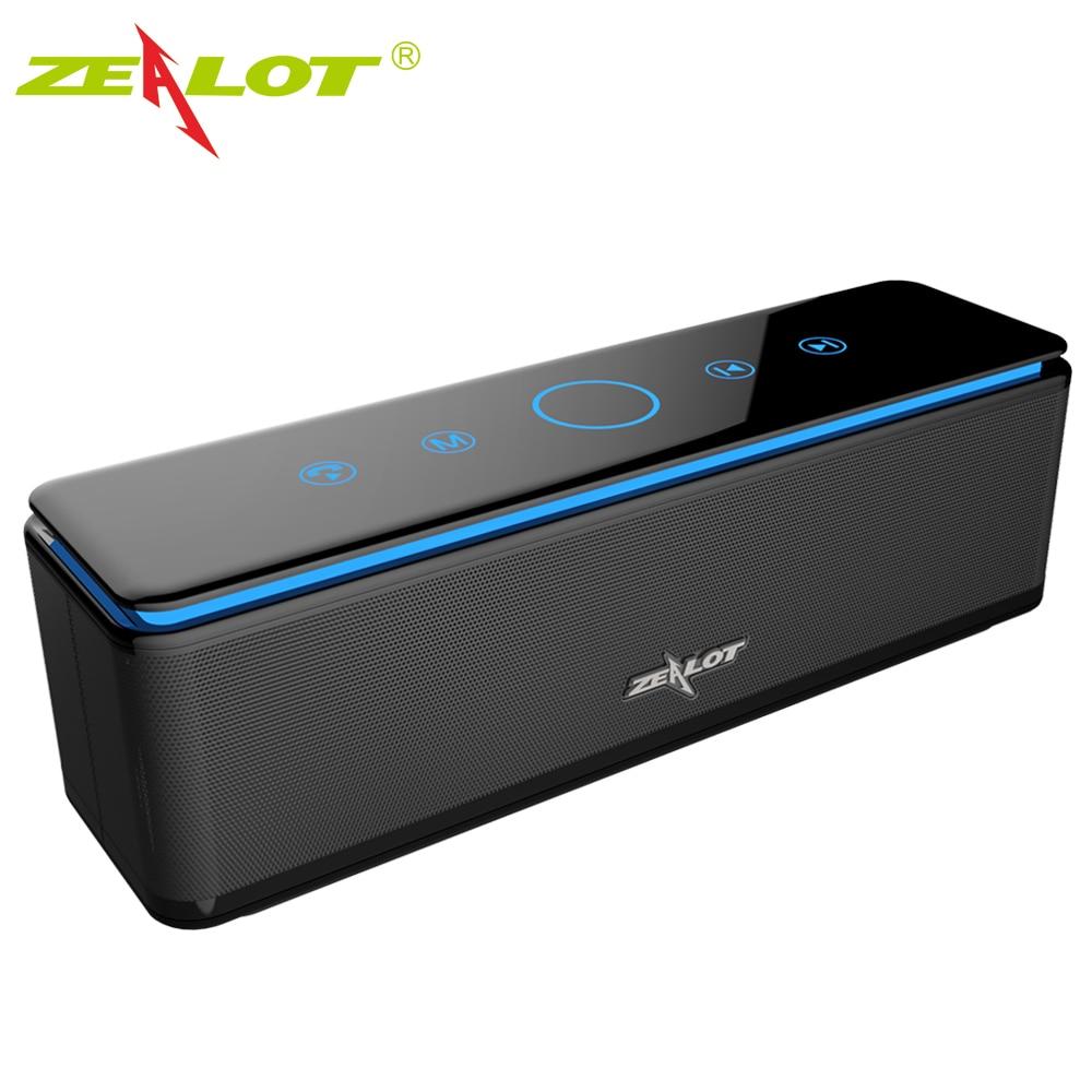 ZEALOT S7-مكبر صوت بلوتوث محمول عالي الطاقة, ستيريو ، لاسلكي ، للكمبيوتر والهواتف ، يدعم بطاقة Tf ، بنك الطاقة