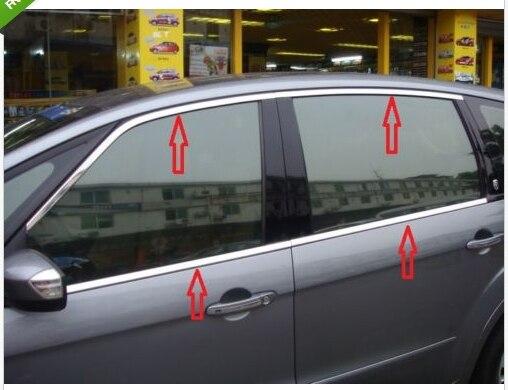 Inoxidable mancha ventana embellecedor de marco para Ford S-MAX SMAX 2007, 2008, 2009, 2010-2012