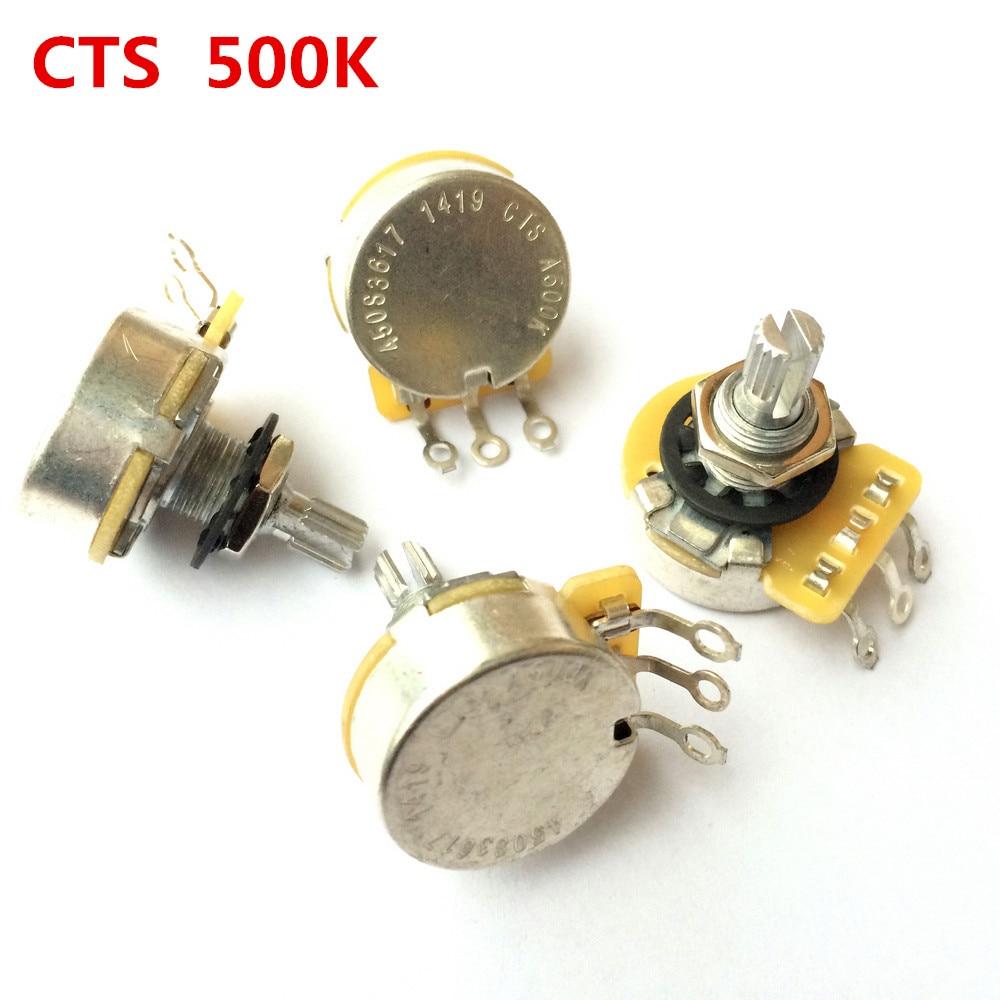 1 шт. CTS A500K L500K серия гитары 500K металлический вкатанный вал аудио потенциометры для электрогитары бас 450S горшок
