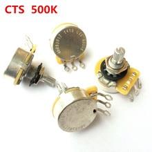 1 pièces CTS A500K L500K guitare série 500K métal moleté arbre potentiomètres Audio pour guitare électrique basse 450S Pot