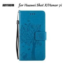 ARYIKUM para Huawei Shot X Funda de cuero PU para Huawei Honor 7i funda trasera de teléfono móvil para Huawei Shotx 7I ath-ul01