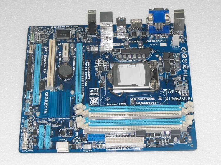 جيجابايت الأصلي اللوحة GA-H77M-D3H LGA 1155 DDR3 H77M-D3H لوحات 32 جيجابايت USB2.0 USB3.0 Z77 سطح المكتب اللوحة