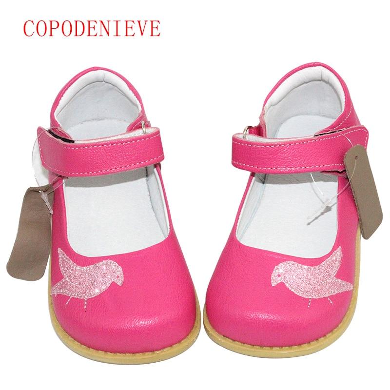 COPODENIEVE الفتاة أحذية الأطفال جلد طبيعي حذاء جلد طبيعي الاطفال عارضة الشقق أحذية رياضية طفل الفتيان الأحذية الطيور