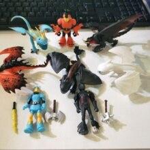 8 pièces sans dents comment former votre Dragon 3 lumière fureur nuit fureur PVC peut déplacer des jouets de figurine daction à collectionner pour les enfants