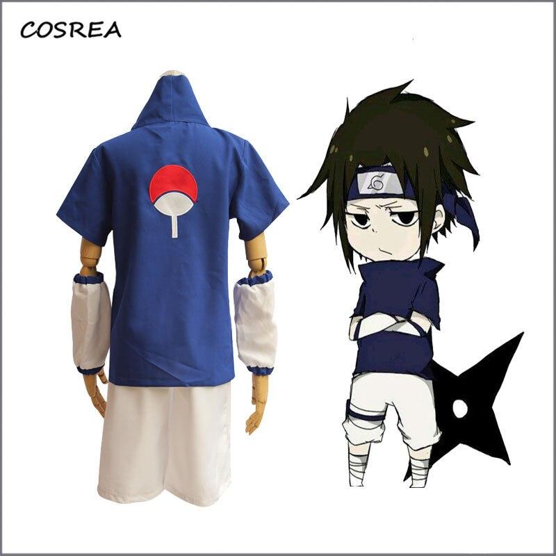 Anime Athemis Naruto Uchiha Sasuke Cosplay Costumes et bandeau bleu femmes hommes uniforme costume Halloween fête accessoires cadeau