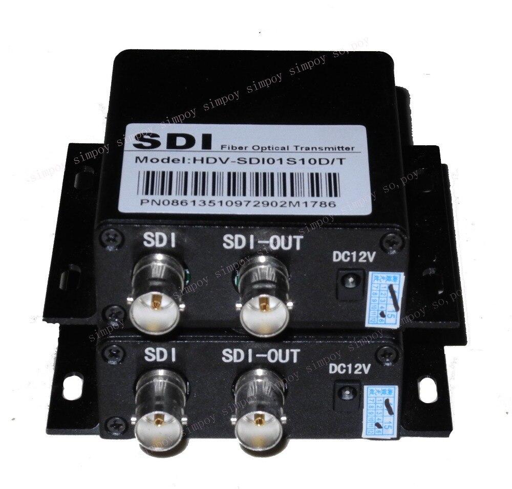 Transceptor óptico HD-SDI para apoyar el anillo fuera de la señal de alta definición a la salida del transceptor óptico SDI de fibra óptica 2 carretera