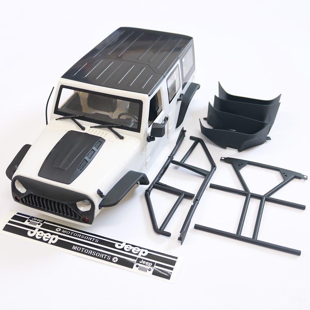 KYX سباق ABS جيب رانجلر الصلب الجسم مع للتحويل أعلى RC سيارة الجسم ل RC حفارات سيارة Axial SCX10 II 90046 الجسم قذيفة 313 مللي متر