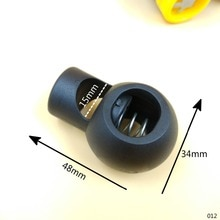 اضافية كبيرة الأسود البلاستيك الكرة الحبل أقفال جولة تبديل كليب سدادة 15 ملليمتر الداخلية عرض 2 قطع DIY أكياس الملابس paracord اكسسوارات