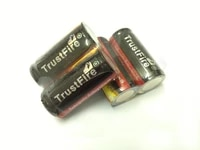 trustfire full capacity 880mah 16340 rcr123 cr123a 3 7v rechargeable lithium protected battery with pcb for led flashlights