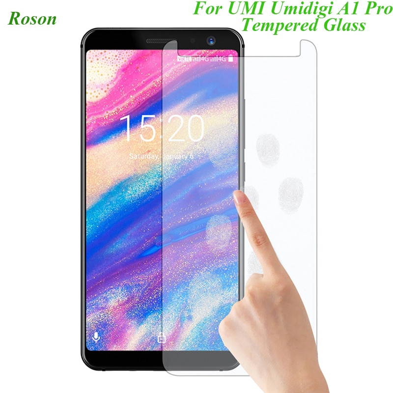 Roson, cristal templado para teléfono inteligente para umidigi-a1/A1 Pro 9H, Protector de pantalla de película a prueba de explosiones, funda para teléfono