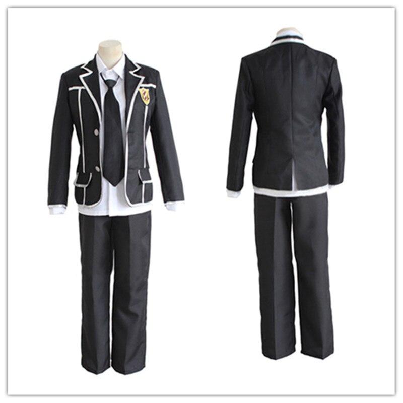 Guilty Crown Cos Ouma Shu Cosplay dibujos animados Anime hombre mujer Halloween Cosplay uniforme japonés disfraz abrigo + camisa + Pantalones + corbata