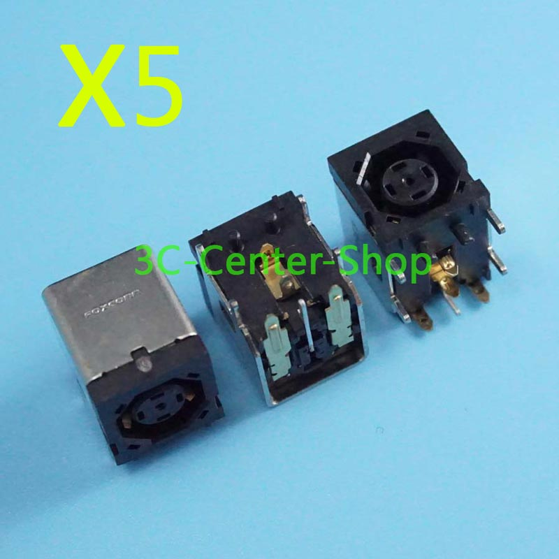 5 piezas nuevo conector de alimentación dc para ordenador portátil para Dell XPS M1330 M1540 M1530 Inspiron 1545 1440 E1450 E1505 OCTAGON DC JACK número de seguimiento