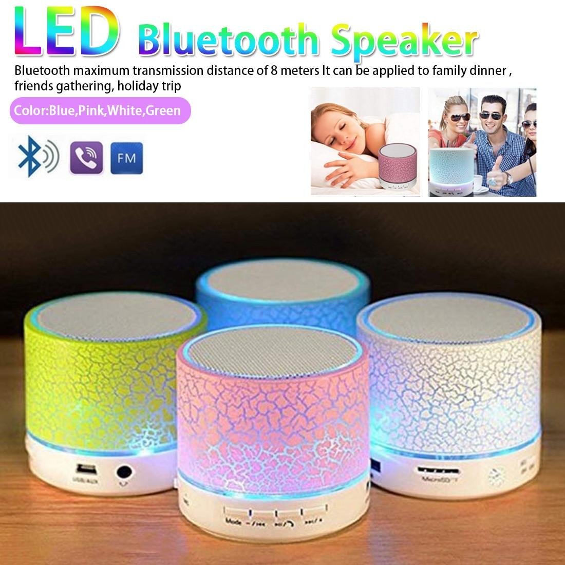 A9 Bluetooth Speaker Mini Wireless Loudspeaker Crack LED USB Subwoofer Speaker led bluetooth mp3 stereo audio music player