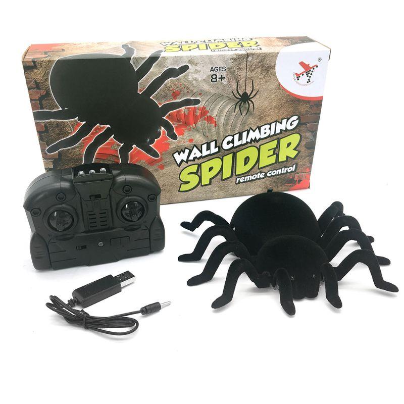 Control remoto araña miedo de la araña lobo Robot realista juguetes regalos de Halloween