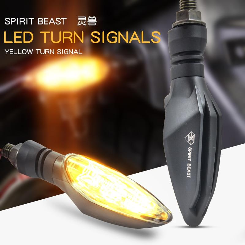 Motorcycle Universal 12V LED Turn Signal Lights for Honda CB650 CB500 NC750 CB400SF CB1300 vt750 Signal tail light Accessories