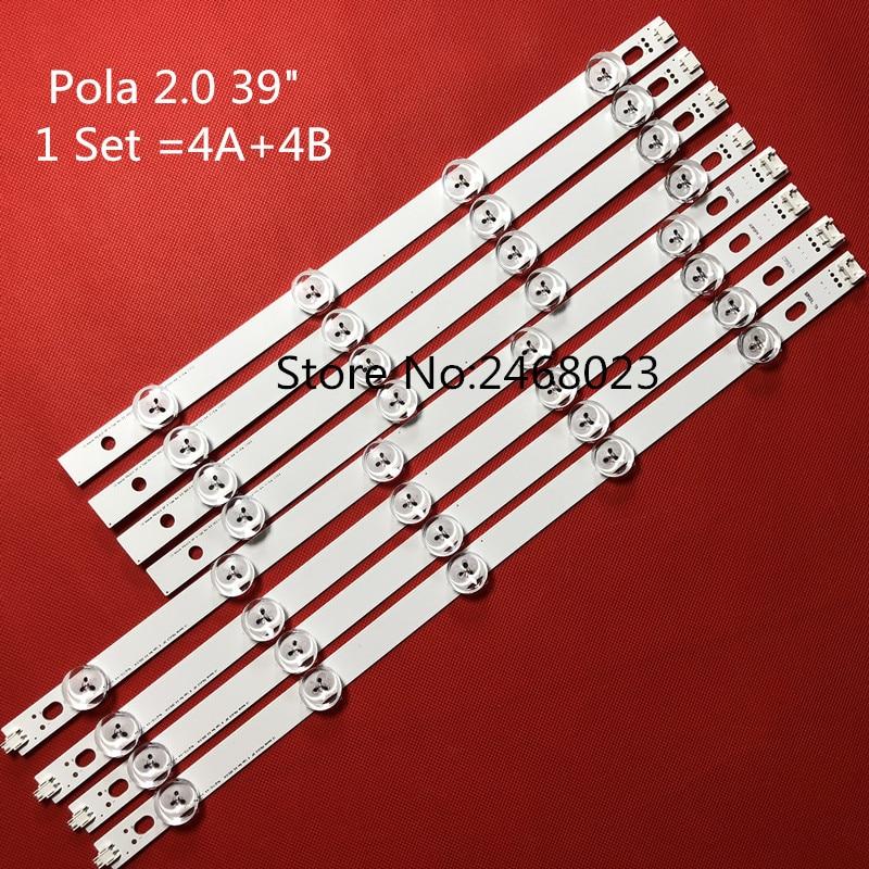 Nuevas barras de tiras LED de retroiluminación Ar ray para LG 39LN540V 39LN570V 39LA620V HC390DUN POLA2.0 39 A B