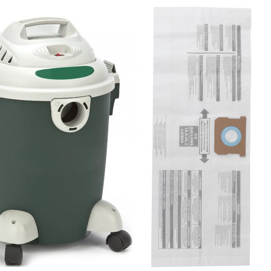 3pcs Aspirador de pó Coletor de pó Saco Acessório Substituição Apto para Shop-Vac 90661 906-61 Coletor de pó