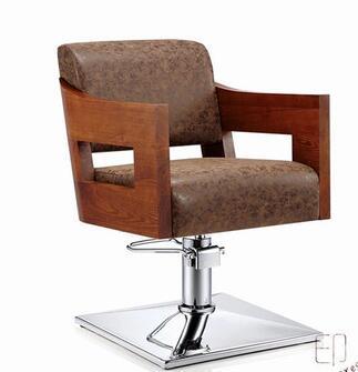 Однотонное кресло, кресло для парикмахерской, кресло для подъема и стрижки волос, парикмахерское кресло.