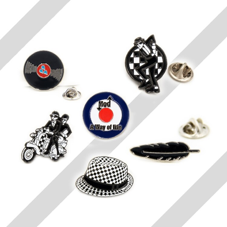 Cartoon Lapel Pins metal  Badge Vintage Classics Fashion Retro Modern Biker Hat