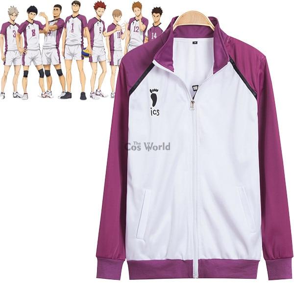 Haikyuu Shiratorizawa Academy, школьная форма, пальто, куртка, штаны, спортивная одежда, волейбольные майки, аниме, костюмы для косплея