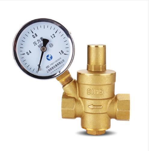 "1/2"" Brass DN15 AND DN20  water pressure regulator (prv) with Gauge,pressure maintaining valve water pressure reducing valve"